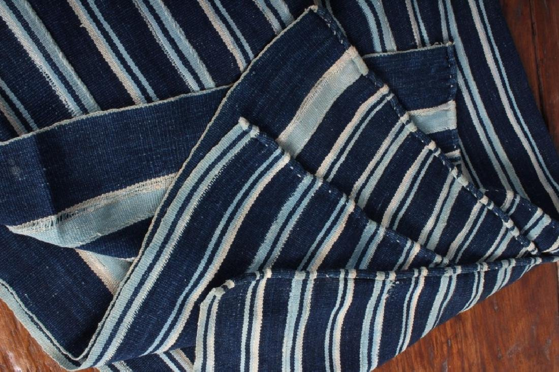 West African Striped Indigo Cloth - 3