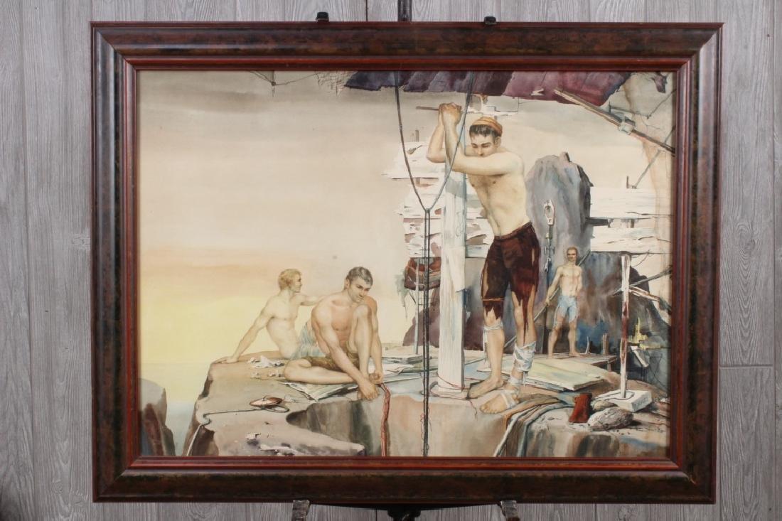 John B Lear (20th C, Pennsylvania) Watercolor