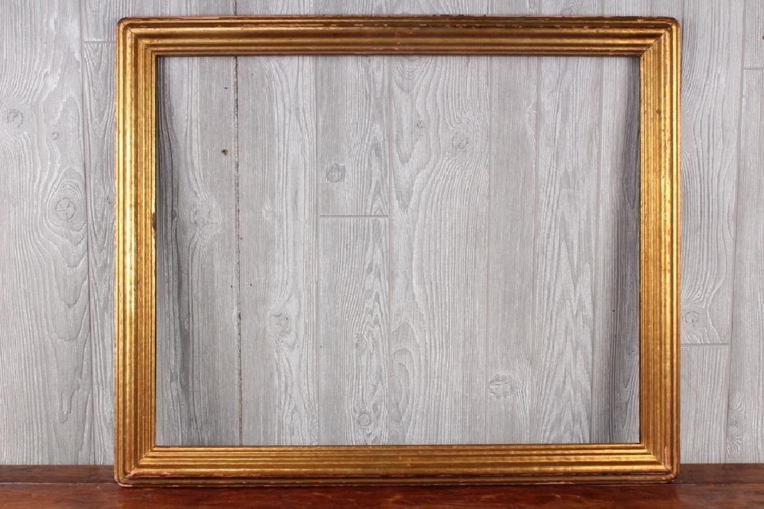 Badura Style Gesso Over Molded Wood Gilt Frame