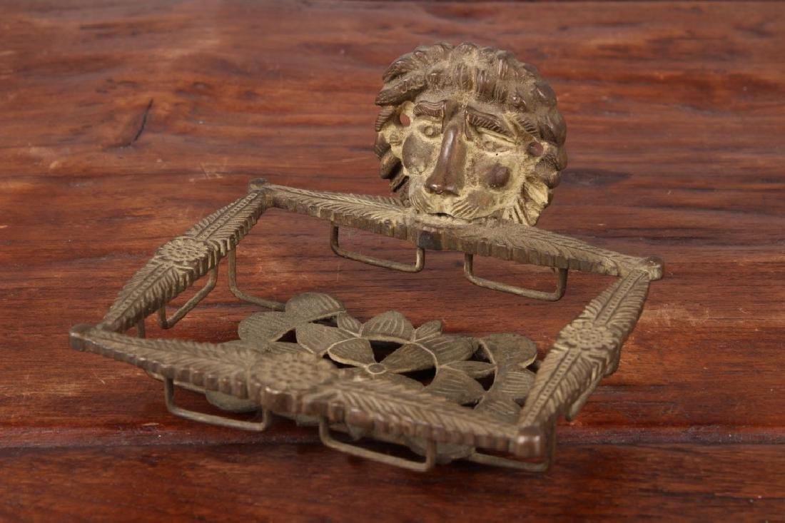 Bronze Lion Soap Dish