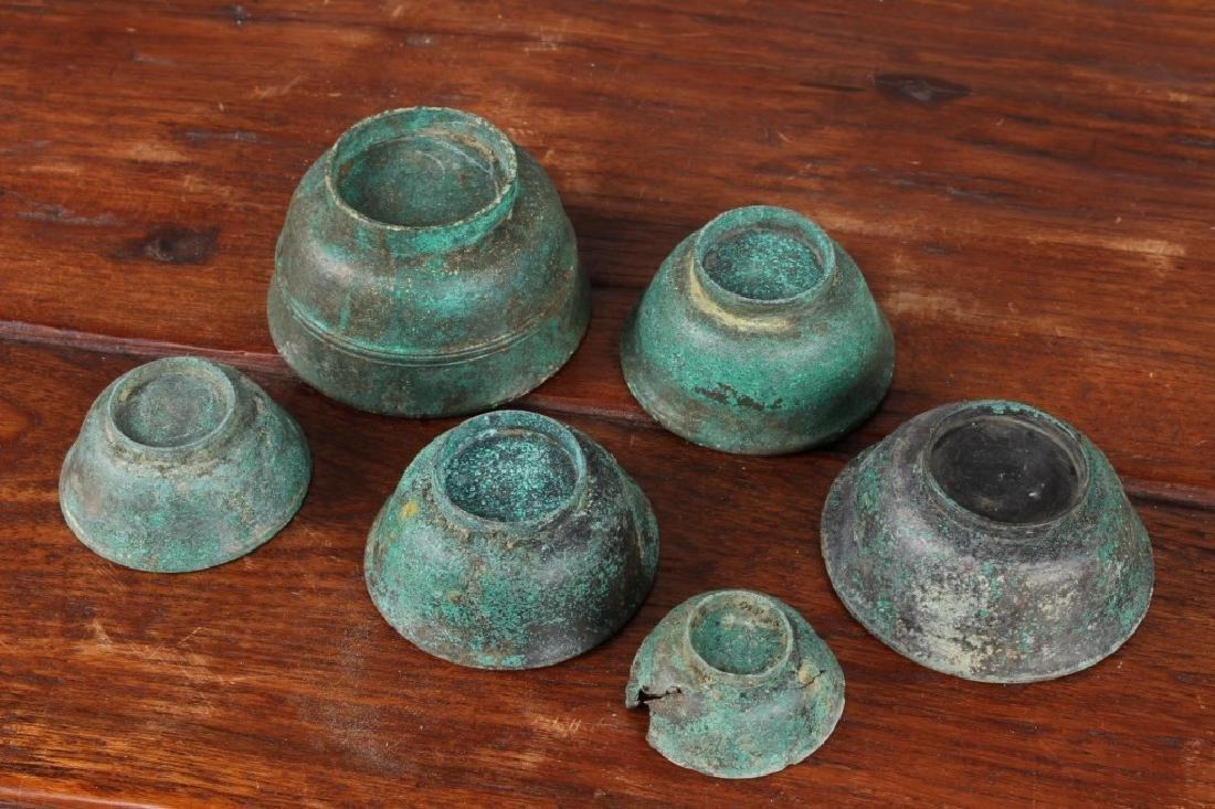 Roman Style Bronze Cups - 3