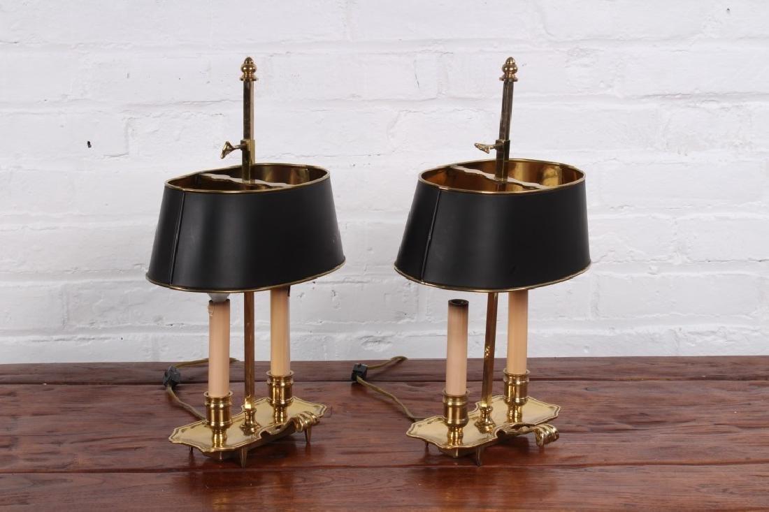 Pair of Brass Boulliotte Lamps - 3