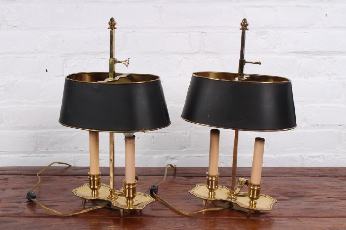 Pair of Brass Boulliotte Lamps - 6