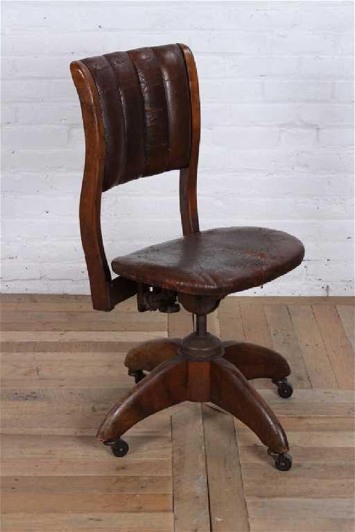 - Vintage Leather Desk Chair