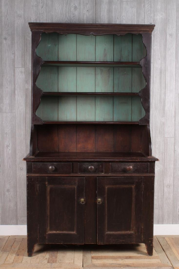 19th C American Painted Cupboard