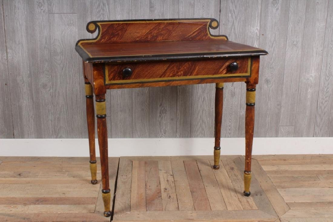 19th C American Paint Decorated Wash Stand