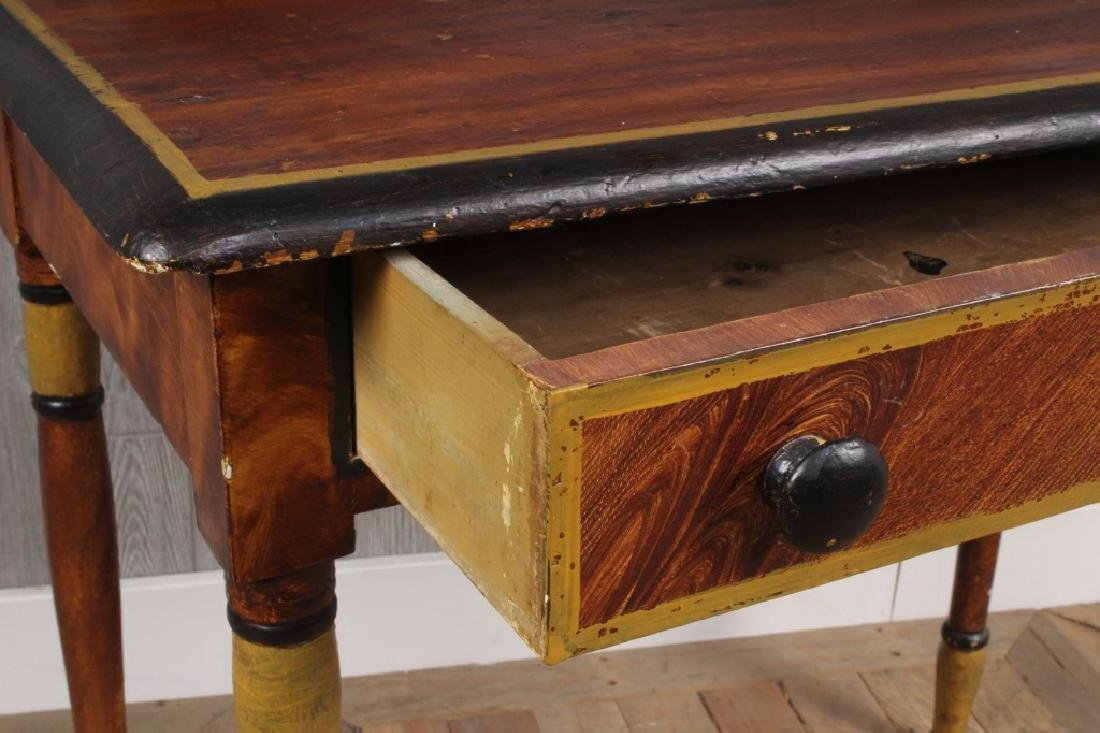 19th C American Paint Decorated Wash Stand - 2