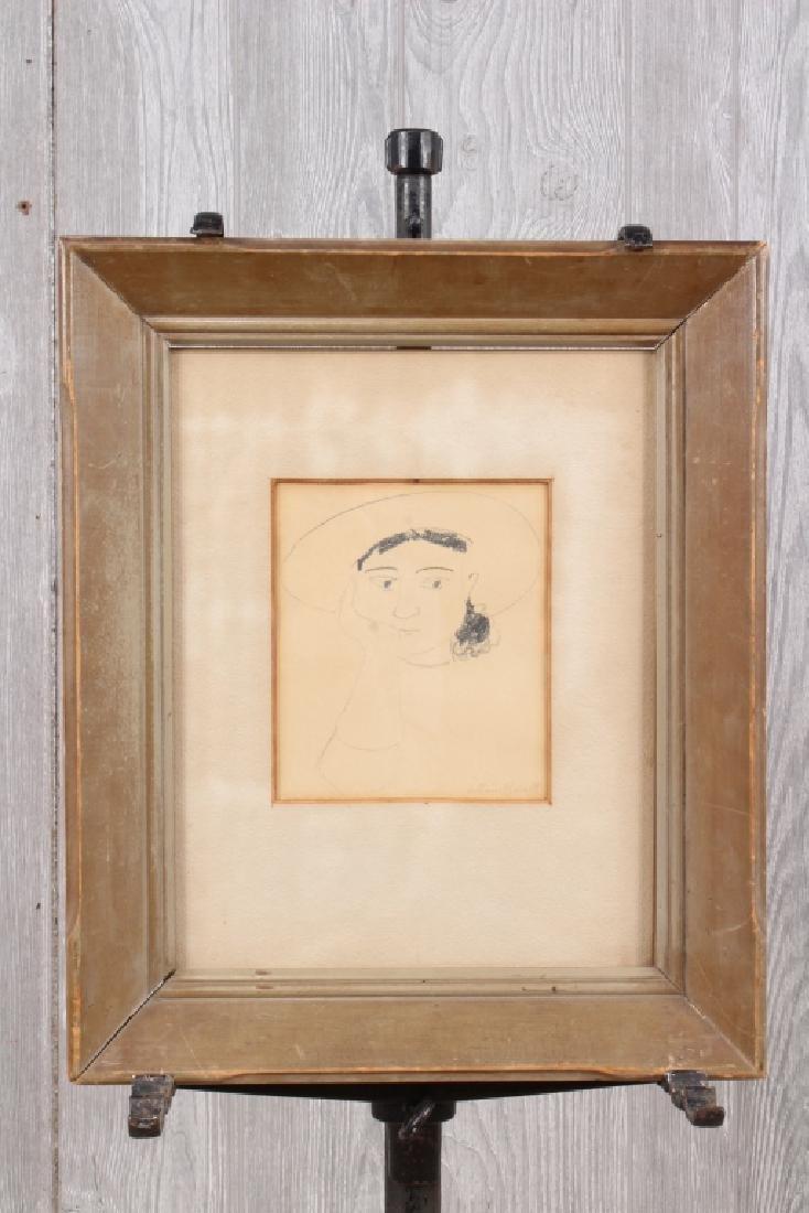William Barnett (American, 20th C) Portrait Study