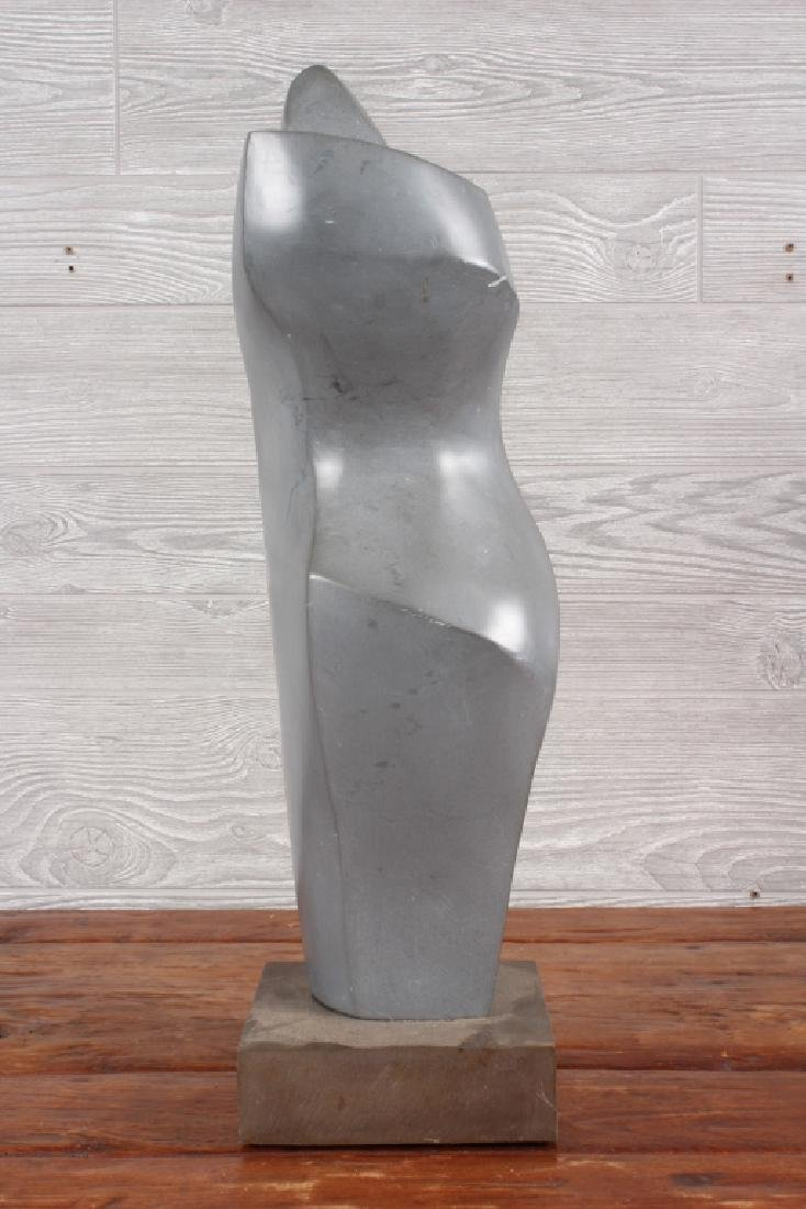 Modernist Polished Soapstone Sculpture - 3