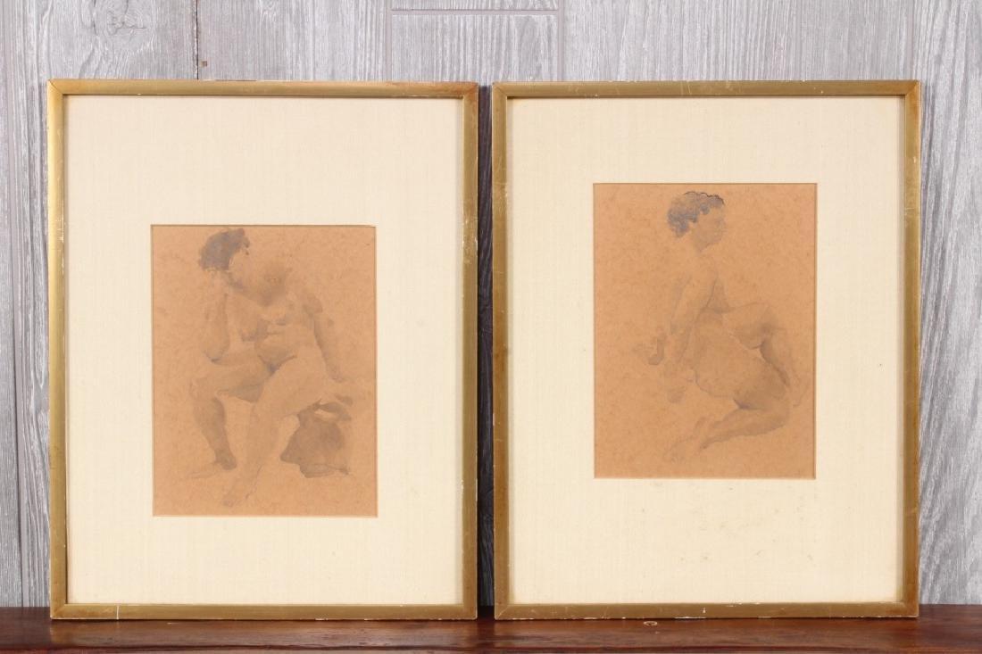 William Barnett (American, 20th C) Nude Studies