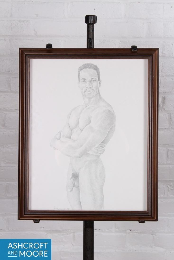 Unknown Artist. Male Nude Study. Modern.