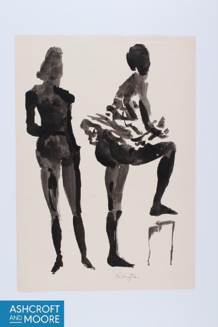 Norman Rubington (American, 1921-1991) Ink Wash Fi