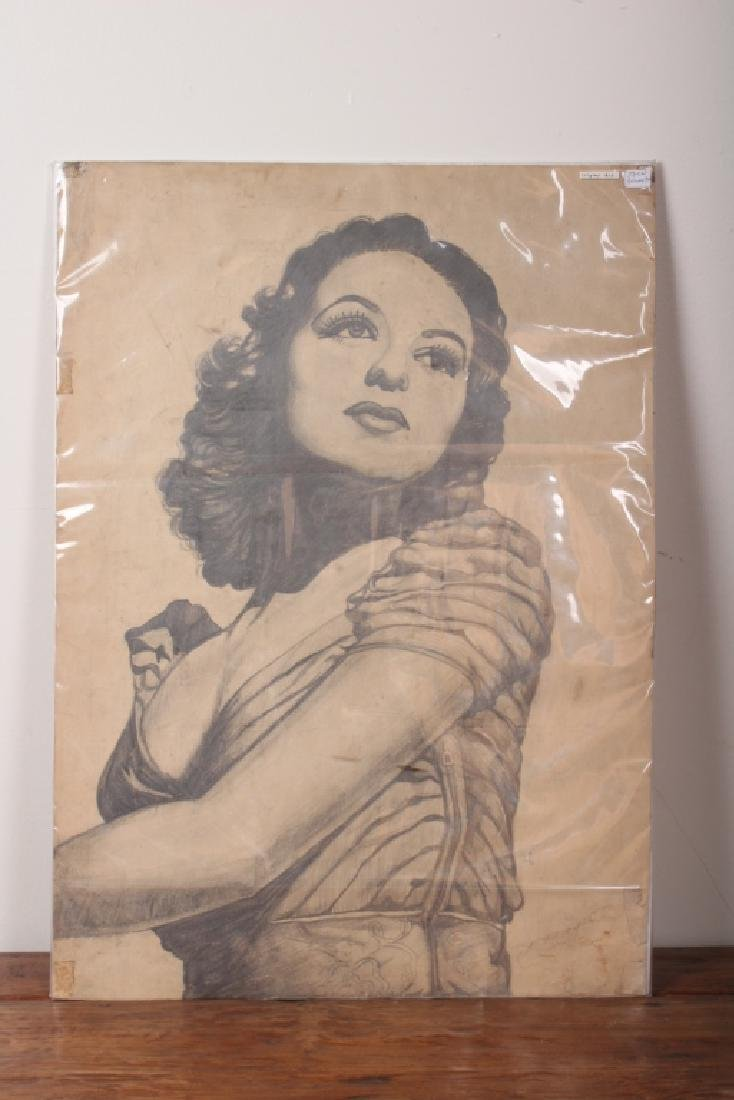 Joan Bennett Drawing