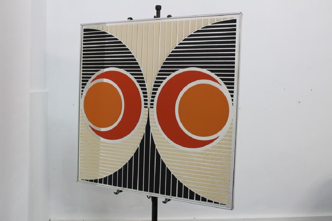 Sharon Art Concept Midcentury OP Art Mirror