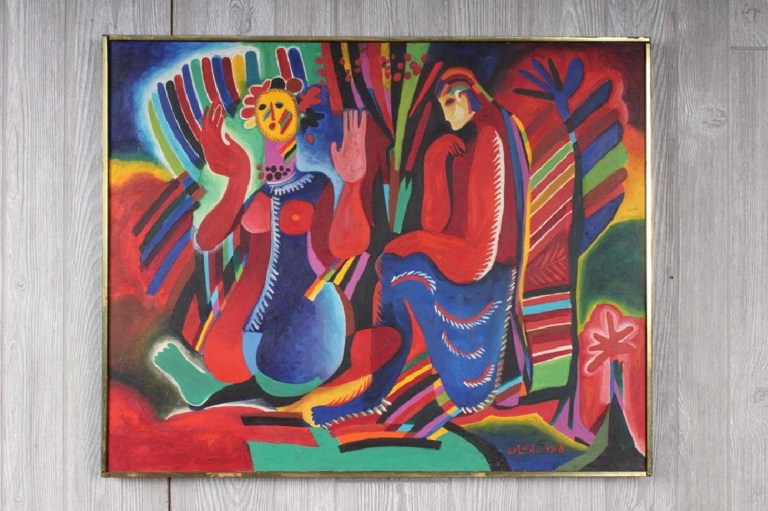 Signed Kolear Mid Century Painting