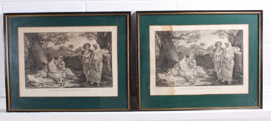 2 Antique French Engravings After Duche de Vancy
