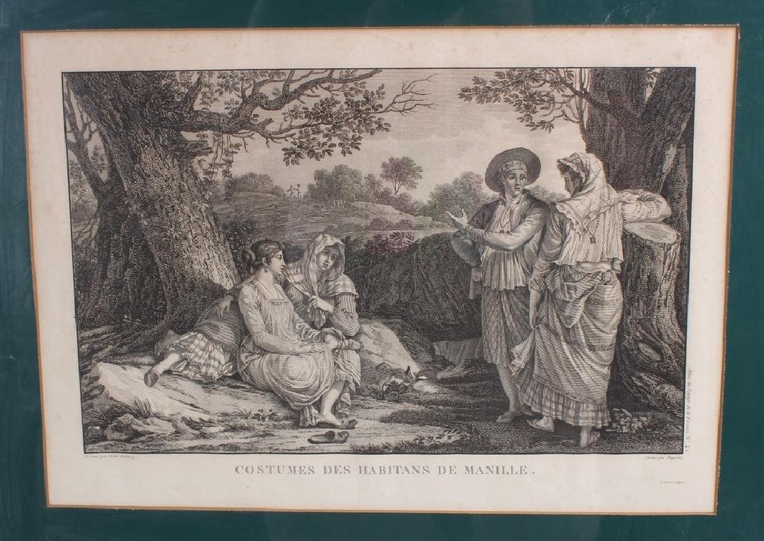 2 Antique French Engravings After Duche de Vancy - 2