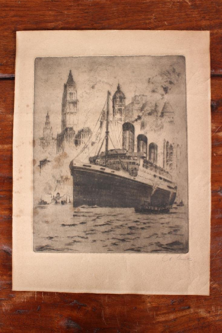 Antique RMS Majestic Lithograph