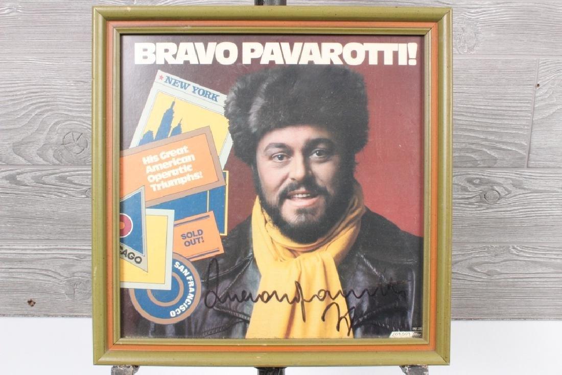 Luciano Pavarotti Autographed Album Cover