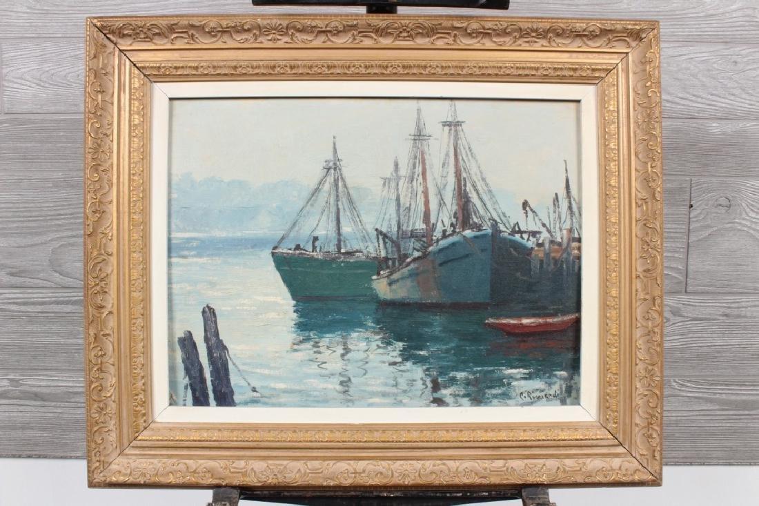 Cesare Ricciardi Harbor Scene
