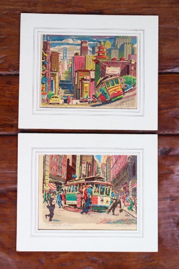 Pair Ralph Mapson San Francisco Serigraphs