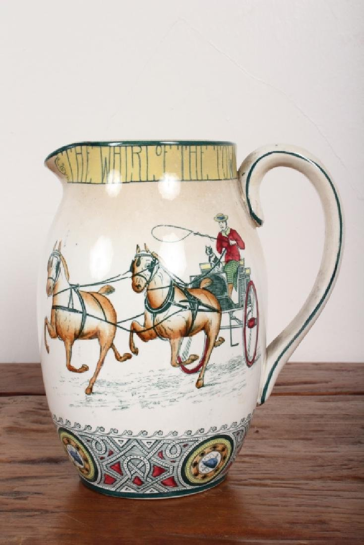 Buffalo Pottery 1907 Fox Hunt Pitcher