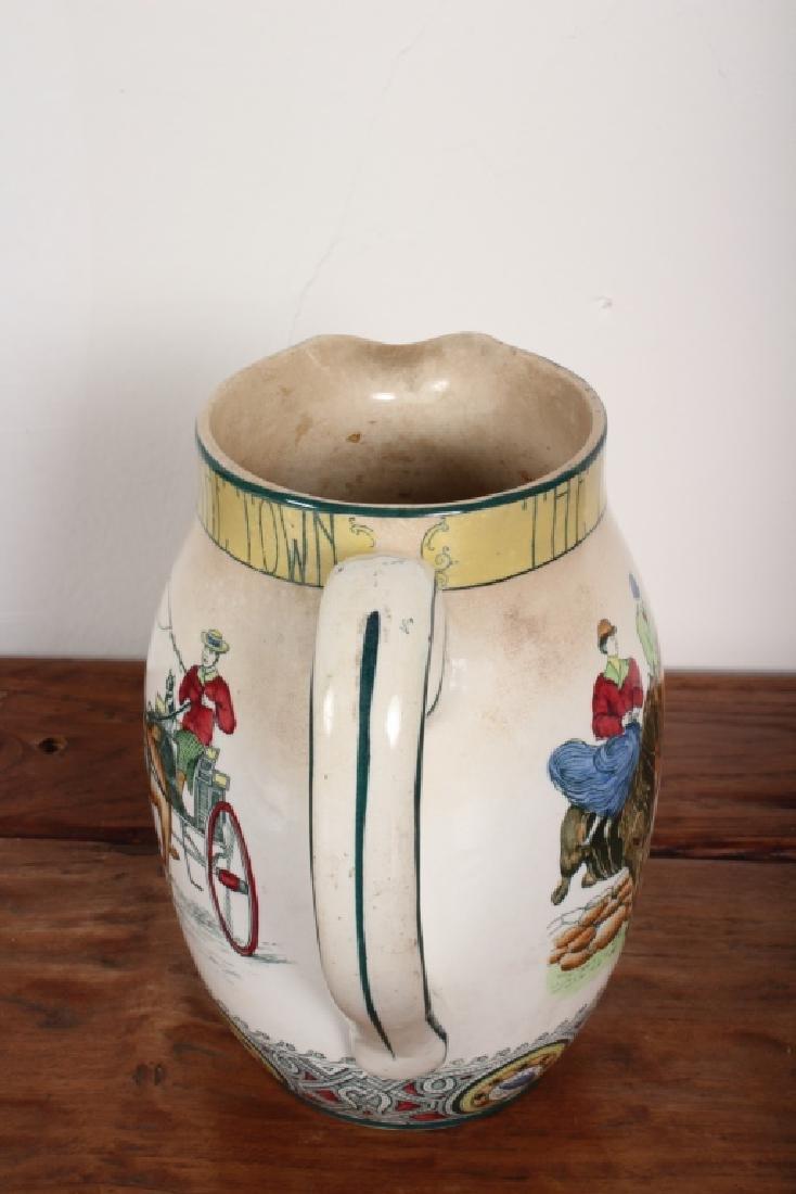 Buffalo Pottery 1907 Fox Hunt Pitcher - 3