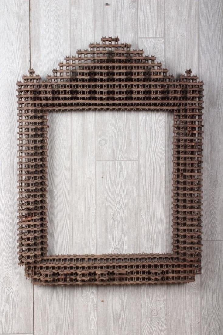 Large Crown of Thorns Tramp Art Frame