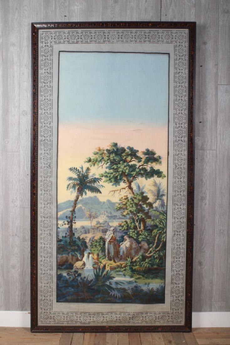 Arabesque Theme Screen Printed Mural