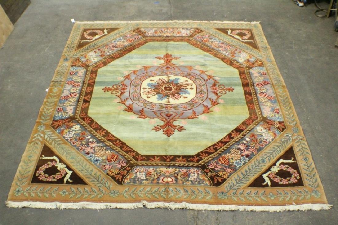 "Turkish Aubusson Style Carpet 10'8"" x 11'6"""