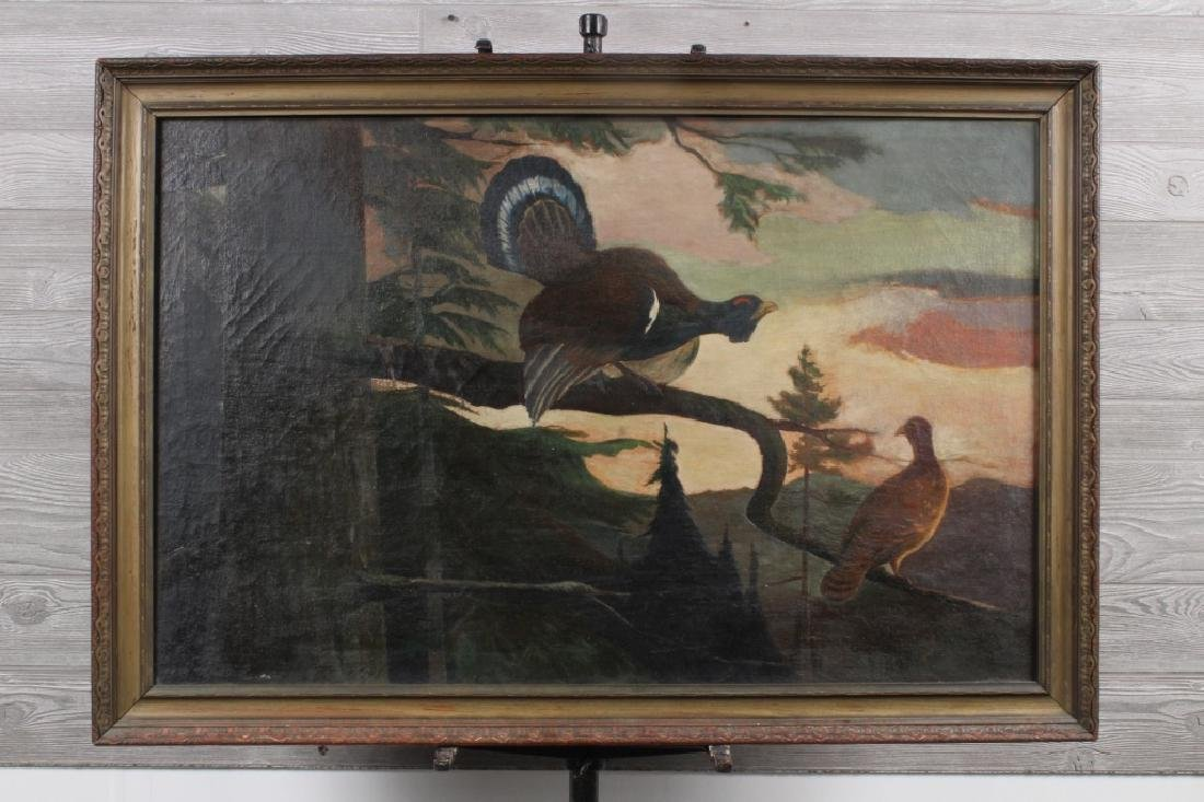 American School Pheasants Painting