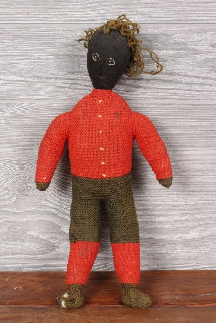 Antique Maritime Folk Art Sailor's Knot Doll