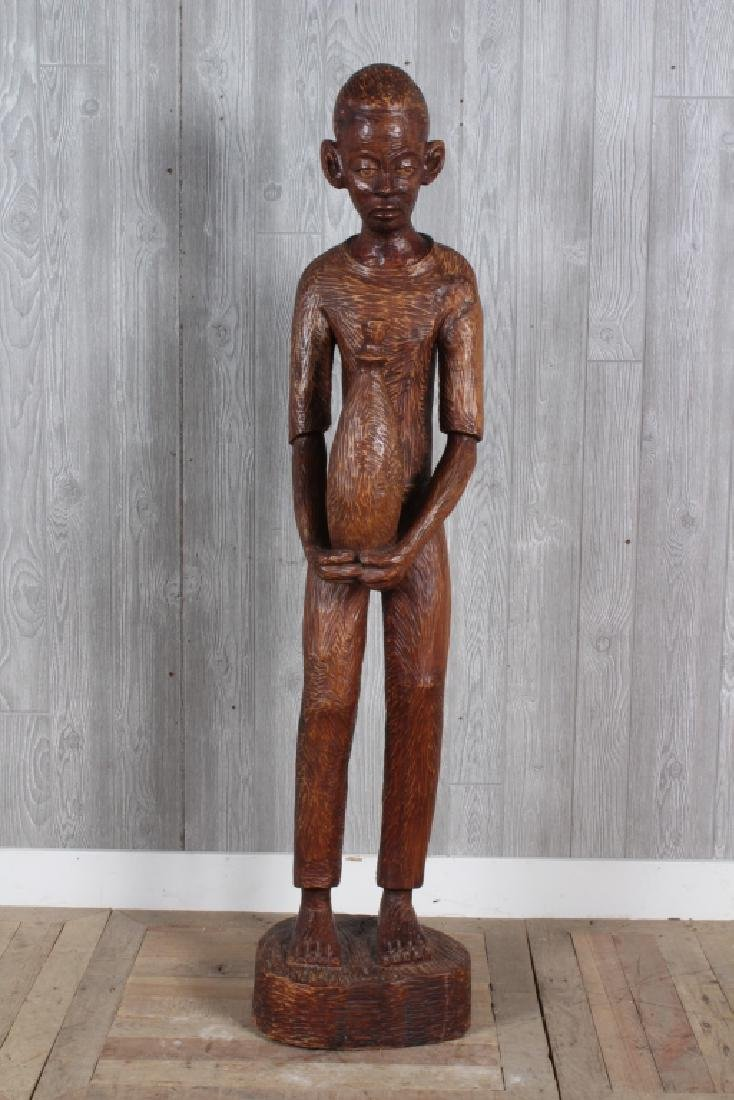 Black American Folk Art Carved Figure