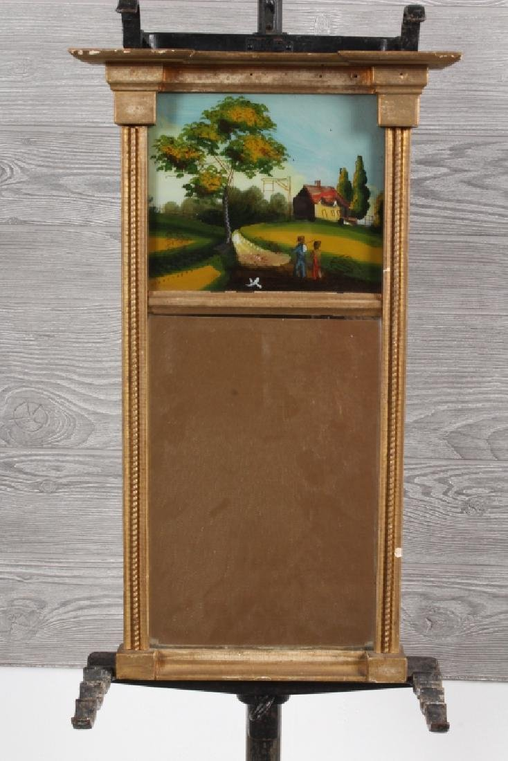 Federal Style Reverse Painted Panel Mirror