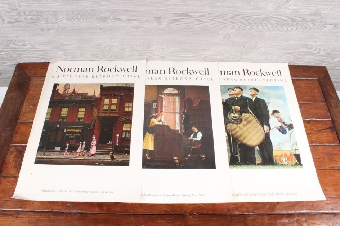 3 Norman Rockewell Retrospective Posters