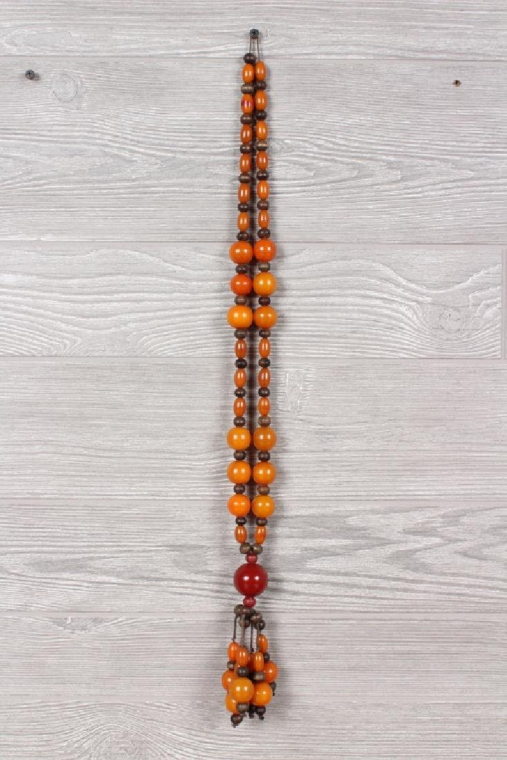 Tribal Amber Bead Necklace