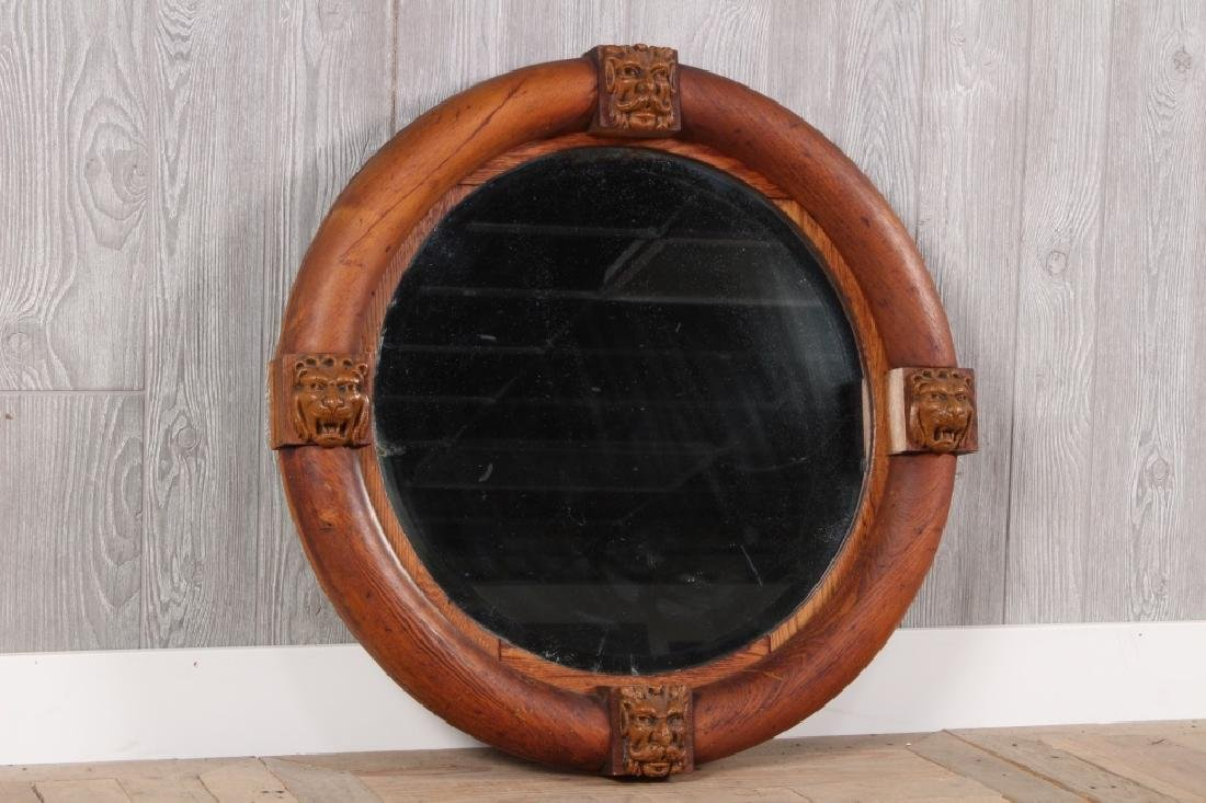 Antique Empire Porthole Mirror
