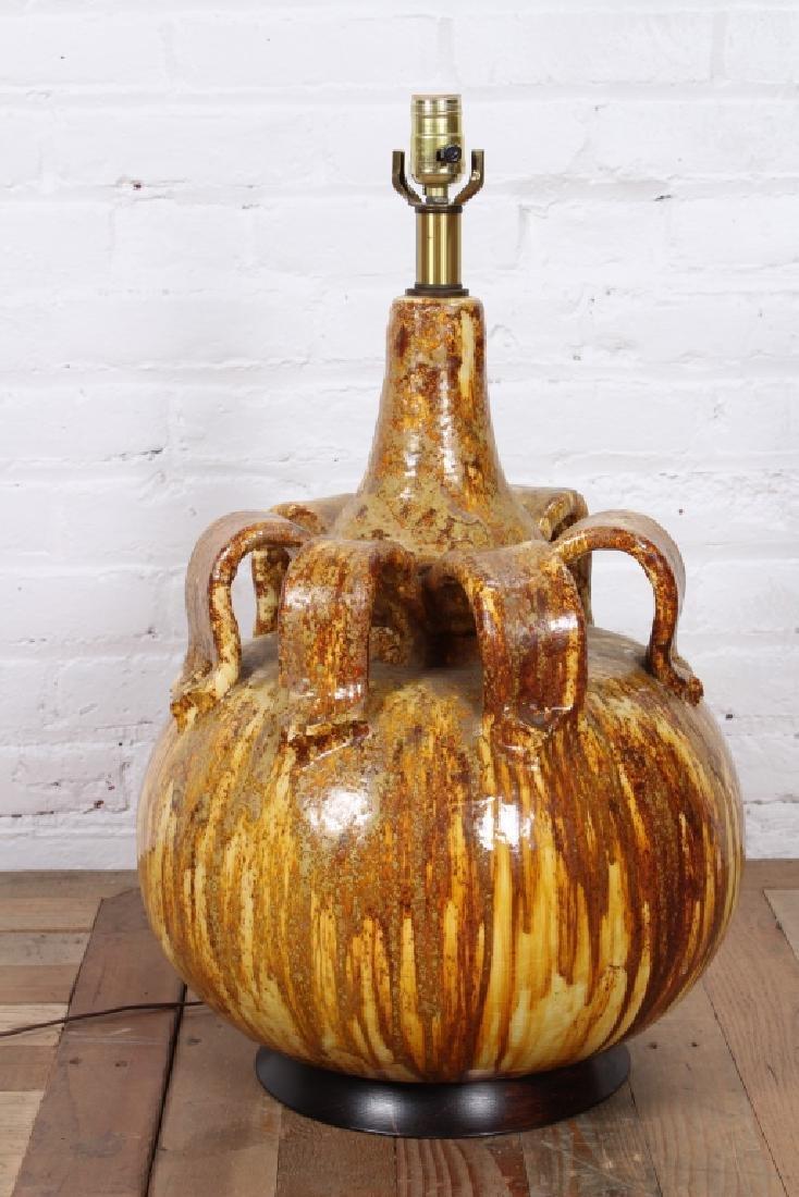 Mid Century Modern Glazed Ceramic Lamp