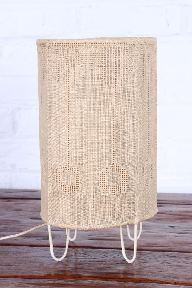 Arts and Crafts Style Woven Linen Table Lamp