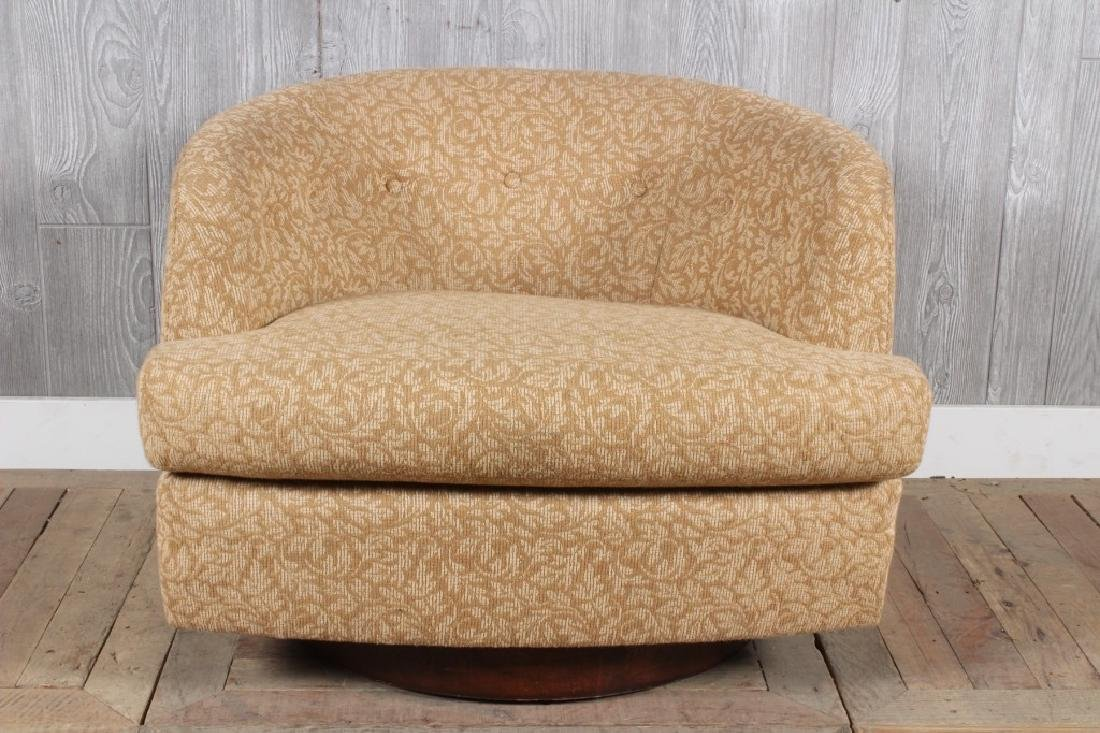 Modern Swivel Upholstered Club Chair