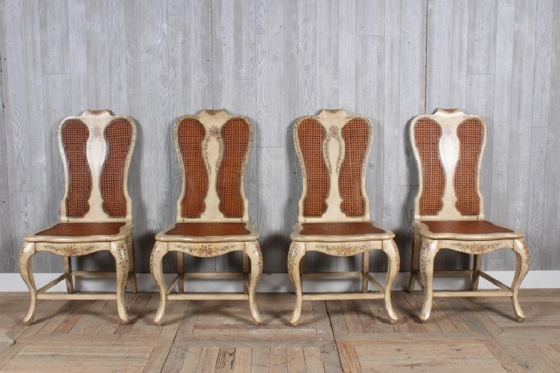4 Adam Style Caned Dining Chairs