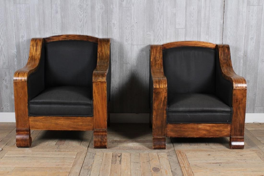 Pair Empire Armchairs
