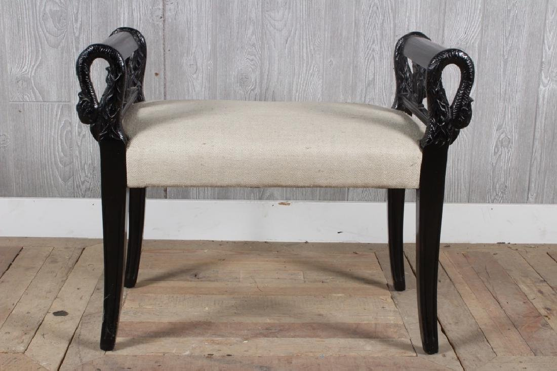 Empire Style Swan Bench