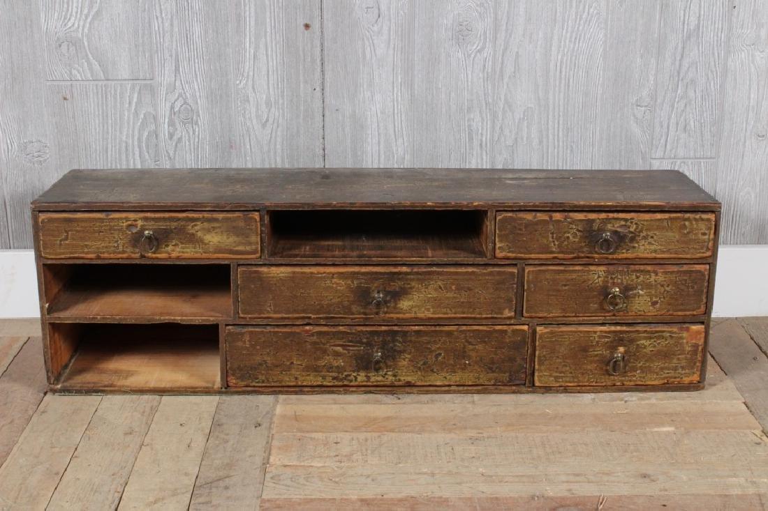 19th C Rustic Box of Drawers