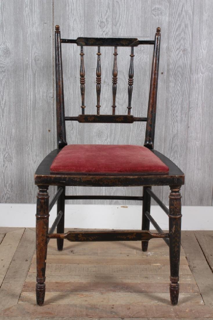 19th C Paint Decorated Side Chair
