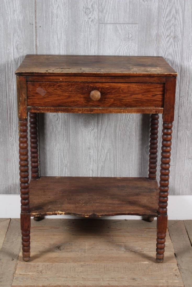 Antique Jenny Lind Style Turned Leg Stand