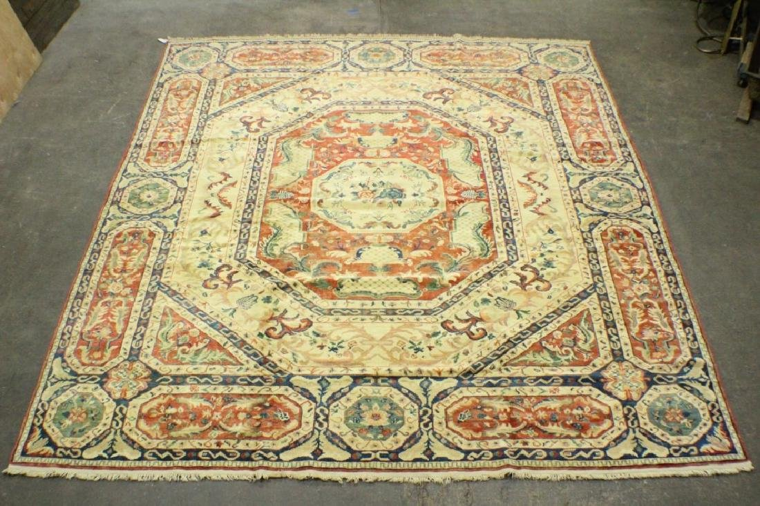 "Turkish Oushak Rug 11'4"" x 12'7"""