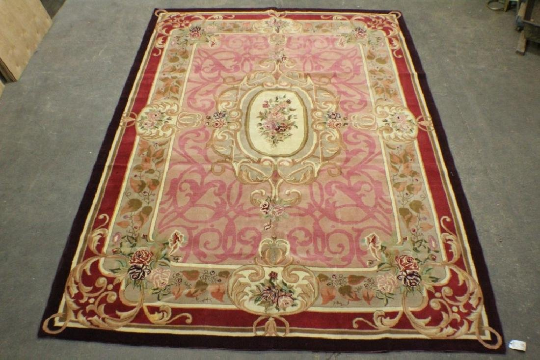 "Romanian Made Savonnerie Style Rug 13'10"" x 9'10"""