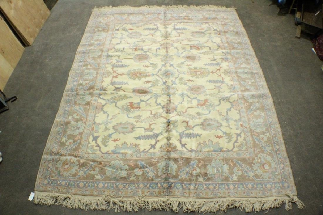 "Turkish Ushak Rug 10'9"" x 13'5"""