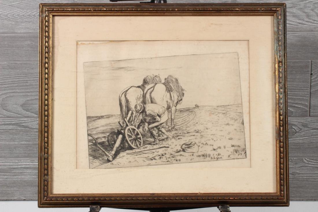 Alphonse Legros Etching